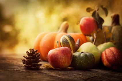 Den Herbst mit einer Erntedank-Deko begrüßen