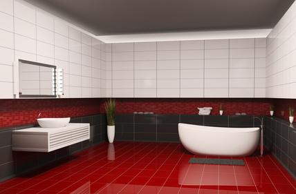 Die freistehende Badewanne als Blickfang