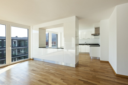Die offene Küche im Wohnzimmer
