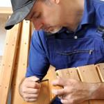 Handwerker beim Kota-Bau