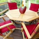 Artikelgebend sind Gartenmöbel aus Holz und Kunststoff