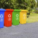 Unterschiedliche Mülltonnen