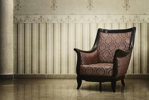 Statt Papiertapete: Textilien für die Wand